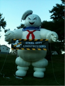 ghostbusters, steel city, stay puft marshmallow man
